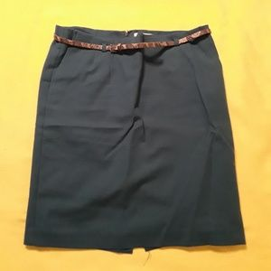 Van Heusin Studio pencil skirt with belt